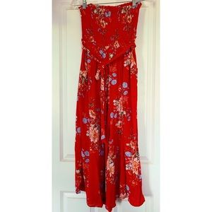 American Eagle red jumpsuit